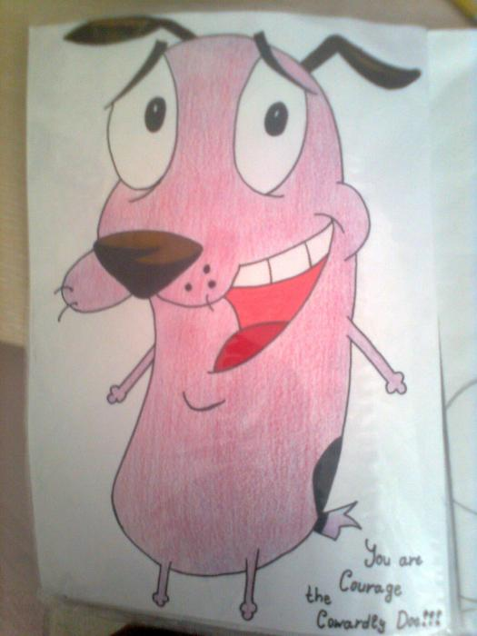 Courage the Cowardly Dog by DenCho